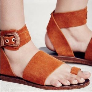 Free People Long Weekend Brown Suede Sandals